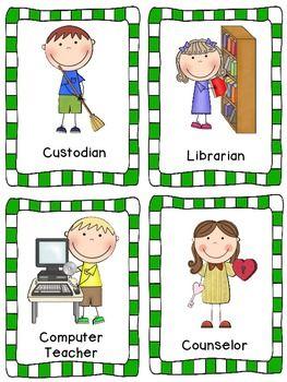 Helpers st grade fun. Librarian clipart school personnel