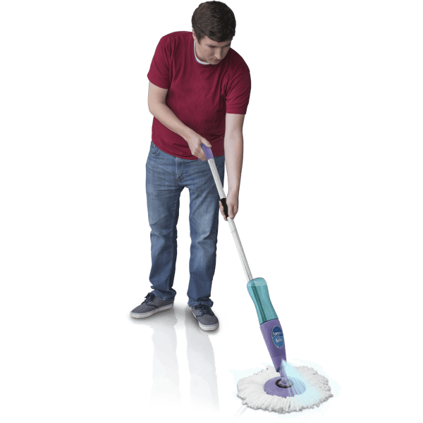 Hurricane ergonomic spray spin. Maid clipart sweep mop