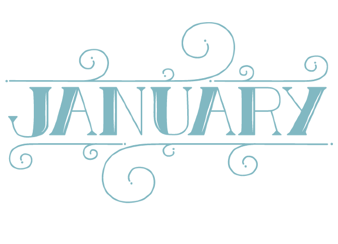 Memories clipart lettering. The months hand sara