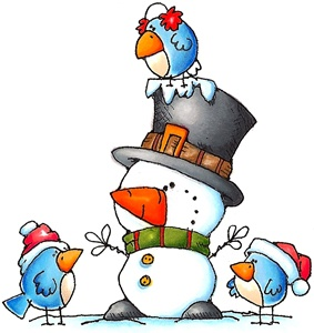Winter ideas on christmas. January clipart