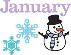 February clip art tons. January clipart