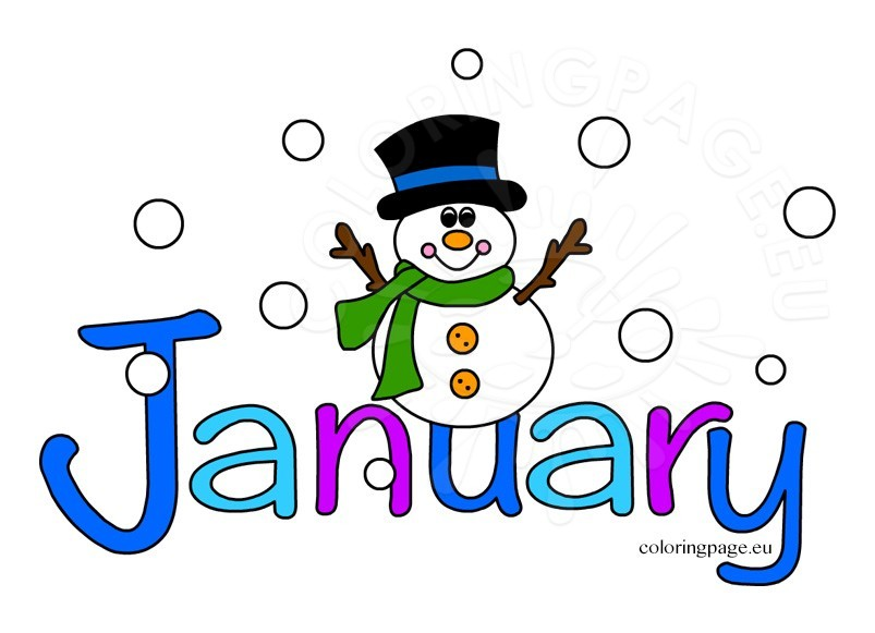 Clip art images month. January clipart