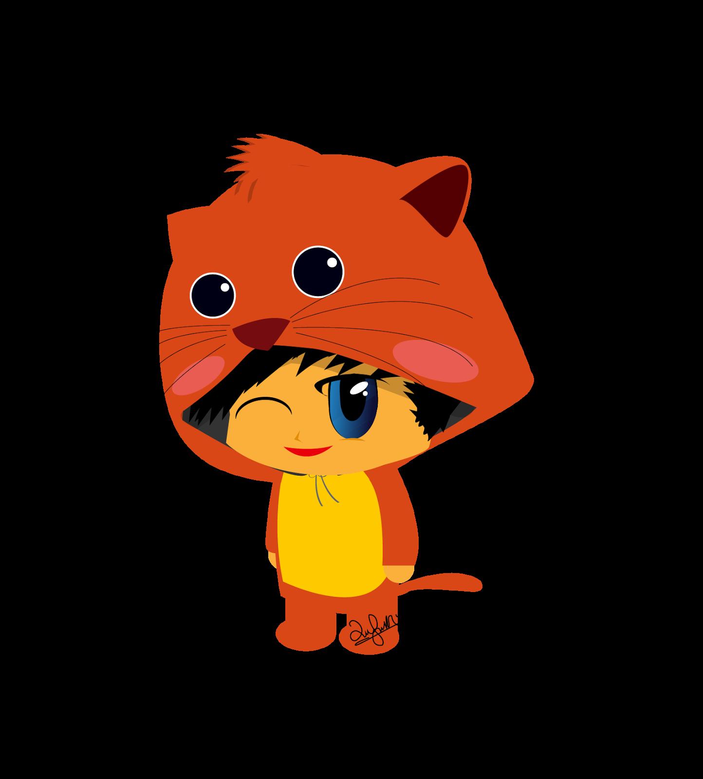 January clipart animated. Freebies doodle wearing animal