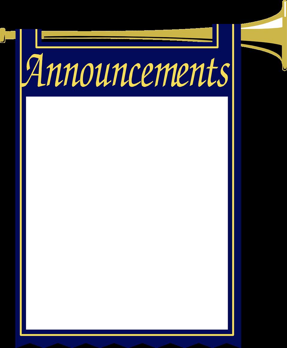 Announcement border cliparts zone. January clipart borders