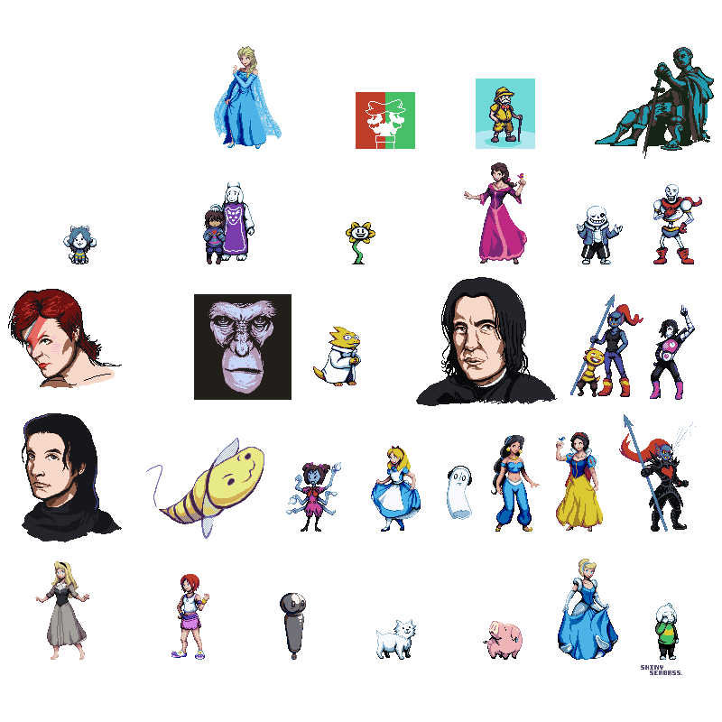 January clipart character. Pixel dump by shinyseabass