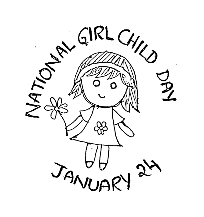 January clipart childhood day. National girl child