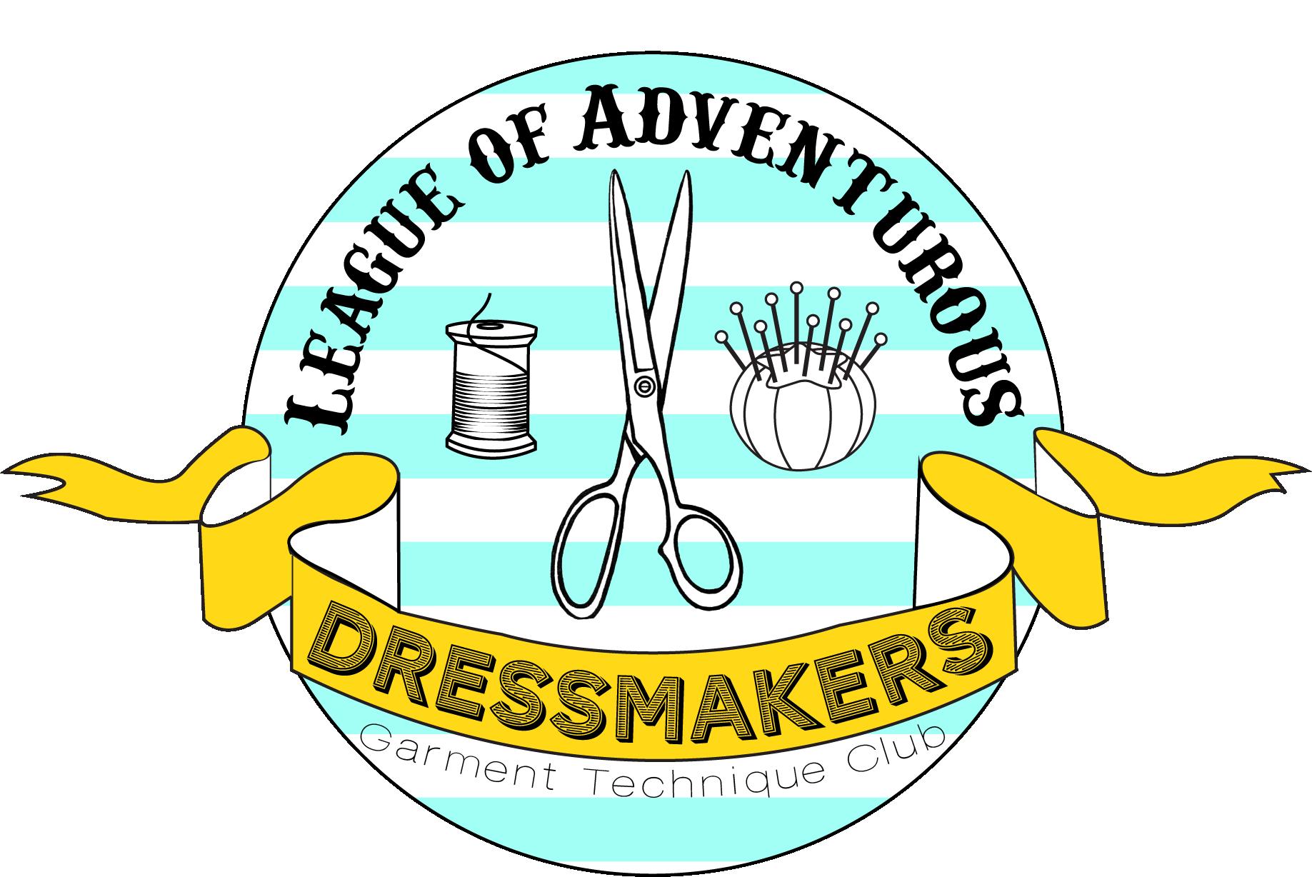 The league of adventurous. Quilt clipart dressmaking
