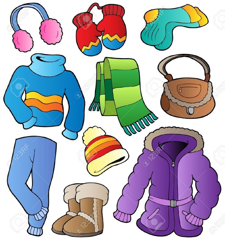 Clothes clip art outfits. Winter clipart cloth