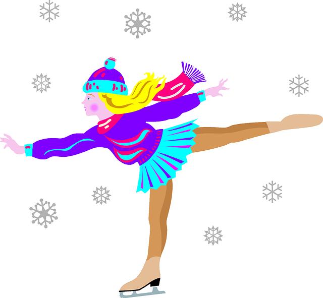 january clipart ice skating