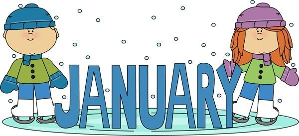 Free months clipartsgram com. Preschool clipart january