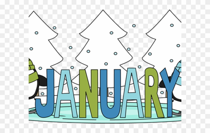 Transparent background . January clipart school