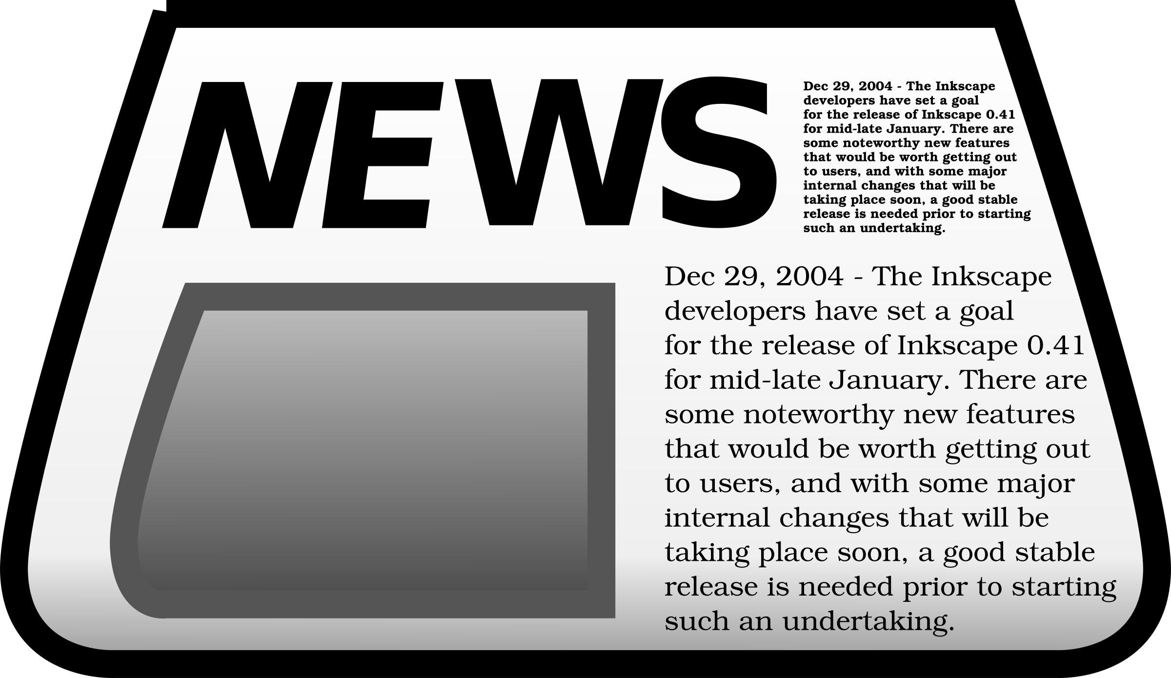 January clipart title. Newspaper big image png