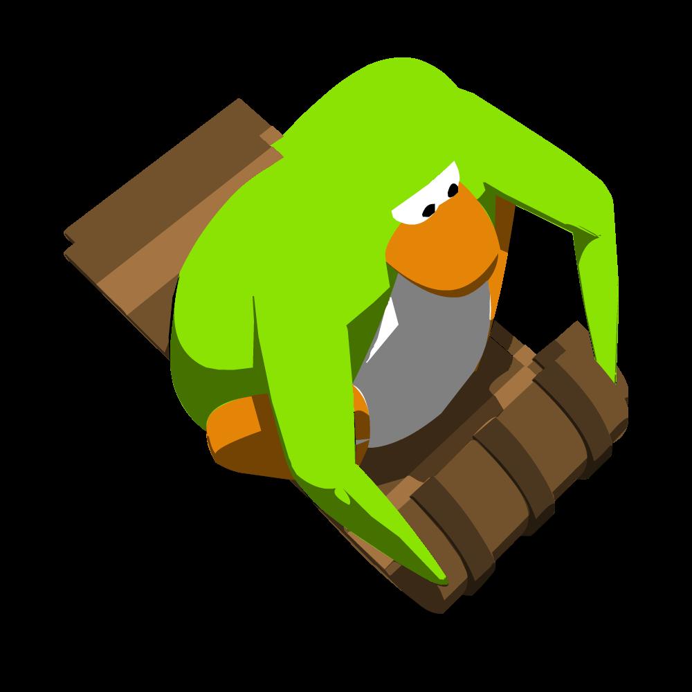 January clipart toboggan. Image lime green penguin