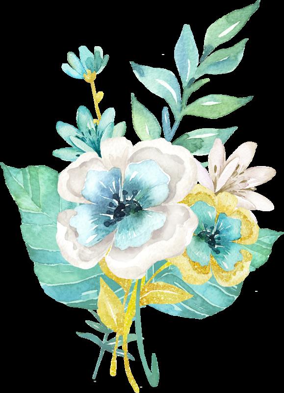 January clipart watercolor. Fleurs flores flowers bloemen