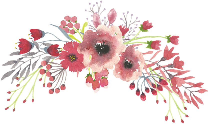 January clipart watercolor. Flowercrown watercolour paint painting