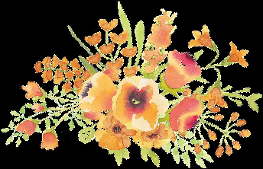 Flowercrown flower paint watercolour. January clipart watercolor