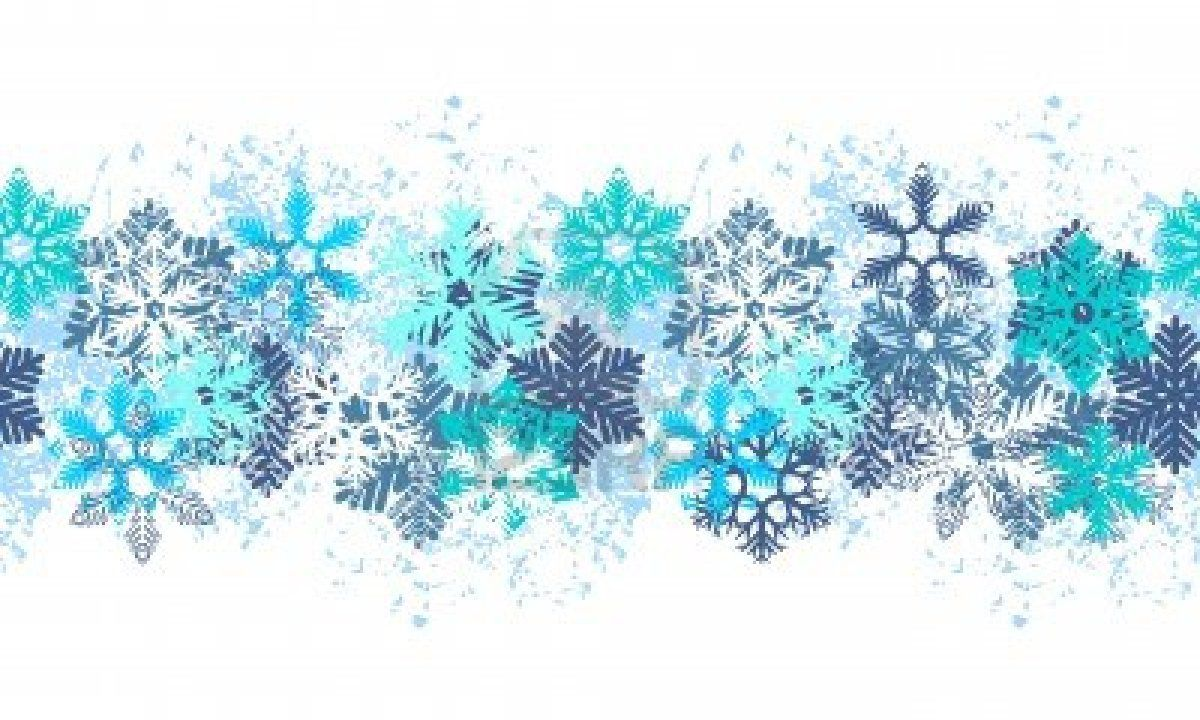 Winter clipart boarder. Snowflake border images pictures