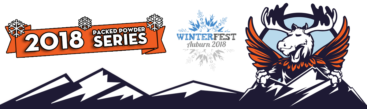 Lost valley winter duathlon. January clipart word blizzard