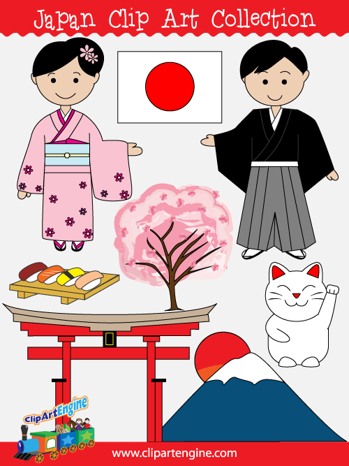 Clip art collection for. Japan clipart