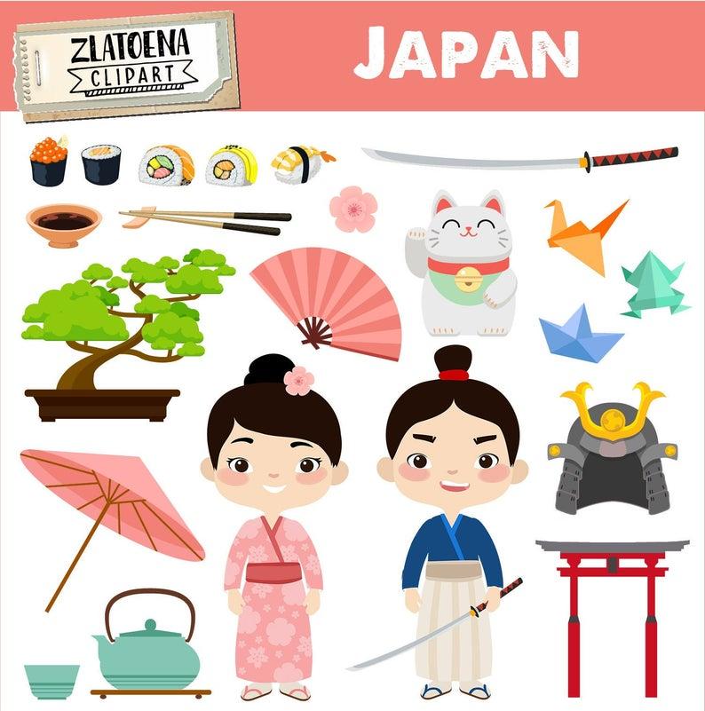 Japan clip art geisha. Japanese clipart samurai japanese