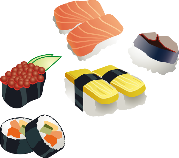 Set clip art at. Japanese clipart sushi chef