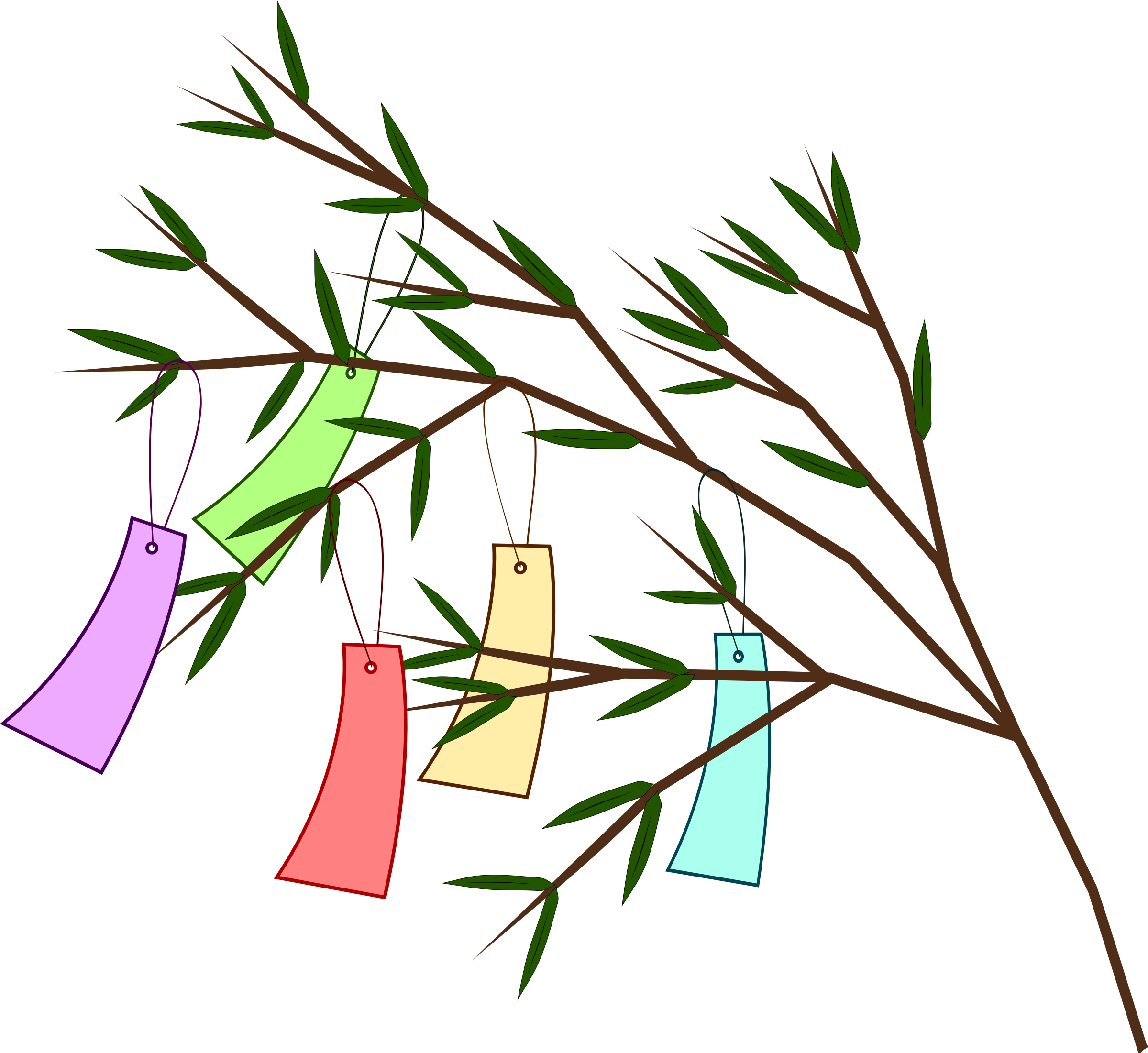 Night clipart wish upon star. Tanabata tree big image