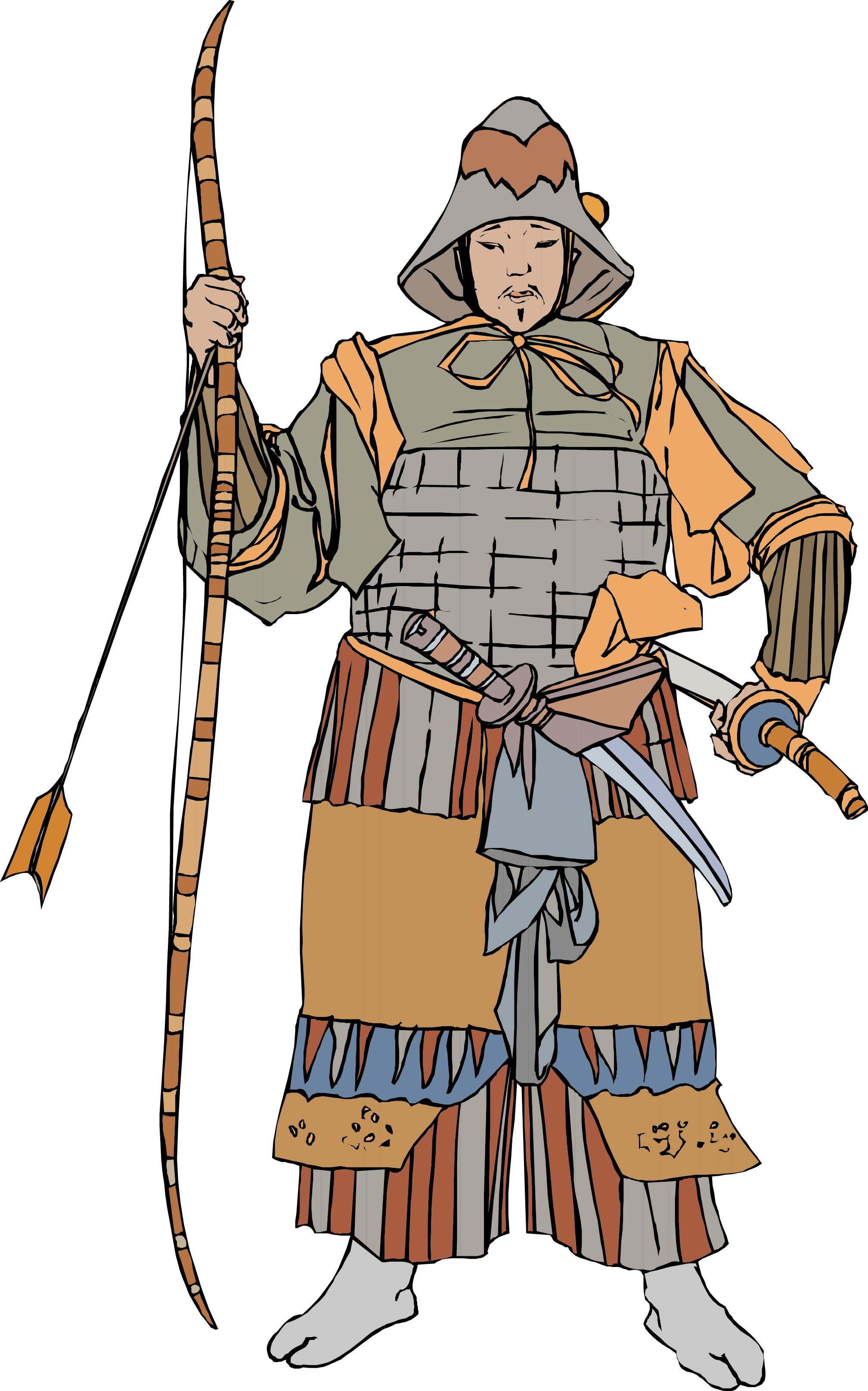 Japan clipart bow japanese. Soldier ancient history soldiers