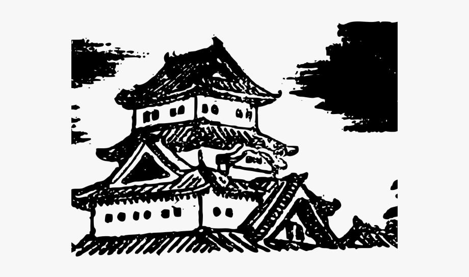 Visual arts free . Japanese clipart castle japan