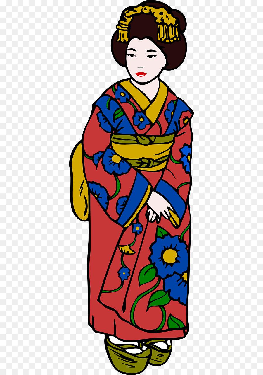 Woman cartoon japan clothing. Japanese clipart clothes japanese