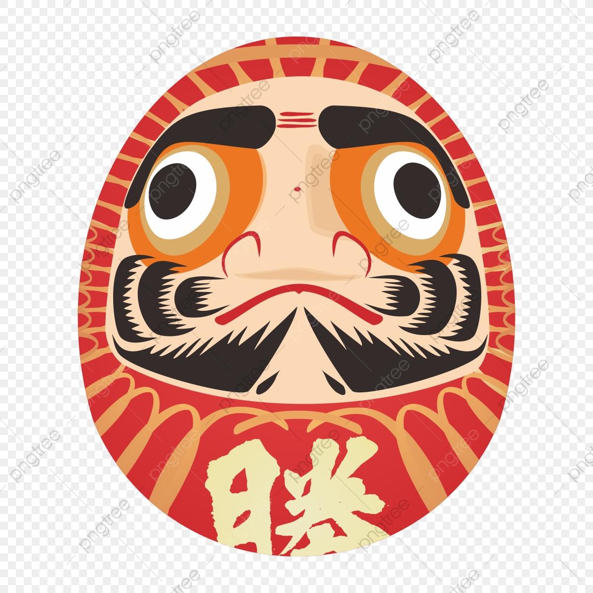 Anese culture daruma elements. Japan clipart eye japanese