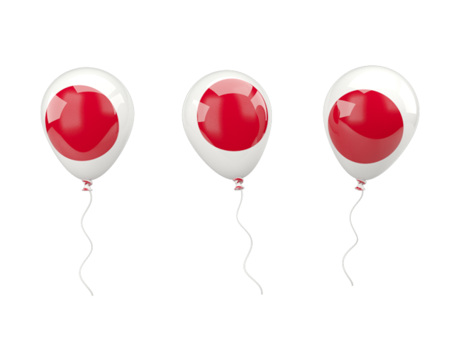 Air balloons illustration of. Japan clipart flag japan