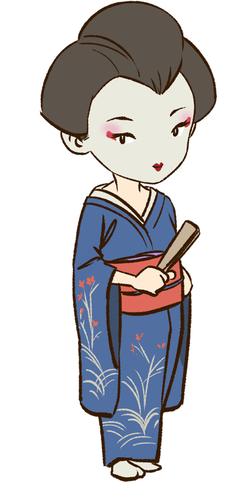 Japanese clipart person japan. Geisha frames illustrations hd
