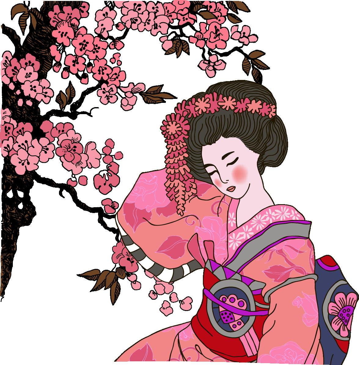 Japan clipart geisha japan. Graphic design illustration red