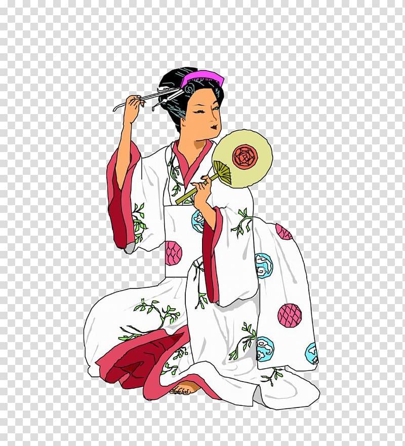 Japanese clothing kimono . Japan clipart geisha japan