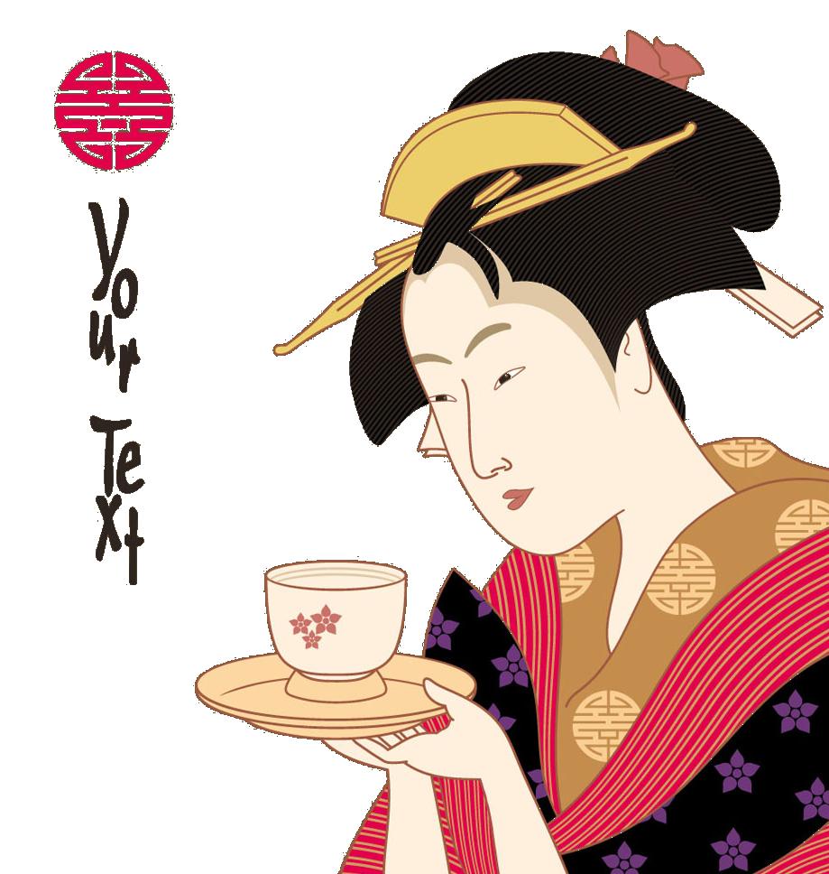 Japanese art woodblock printing. Japan clipart geisha japan
