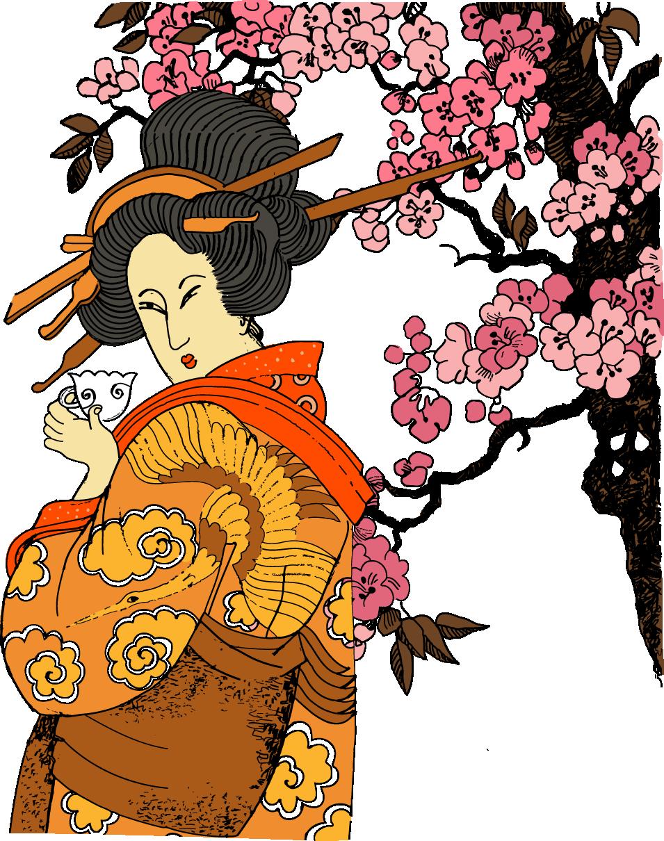 Japan clipart geisha japan. Jidai matsuri japanese transprent