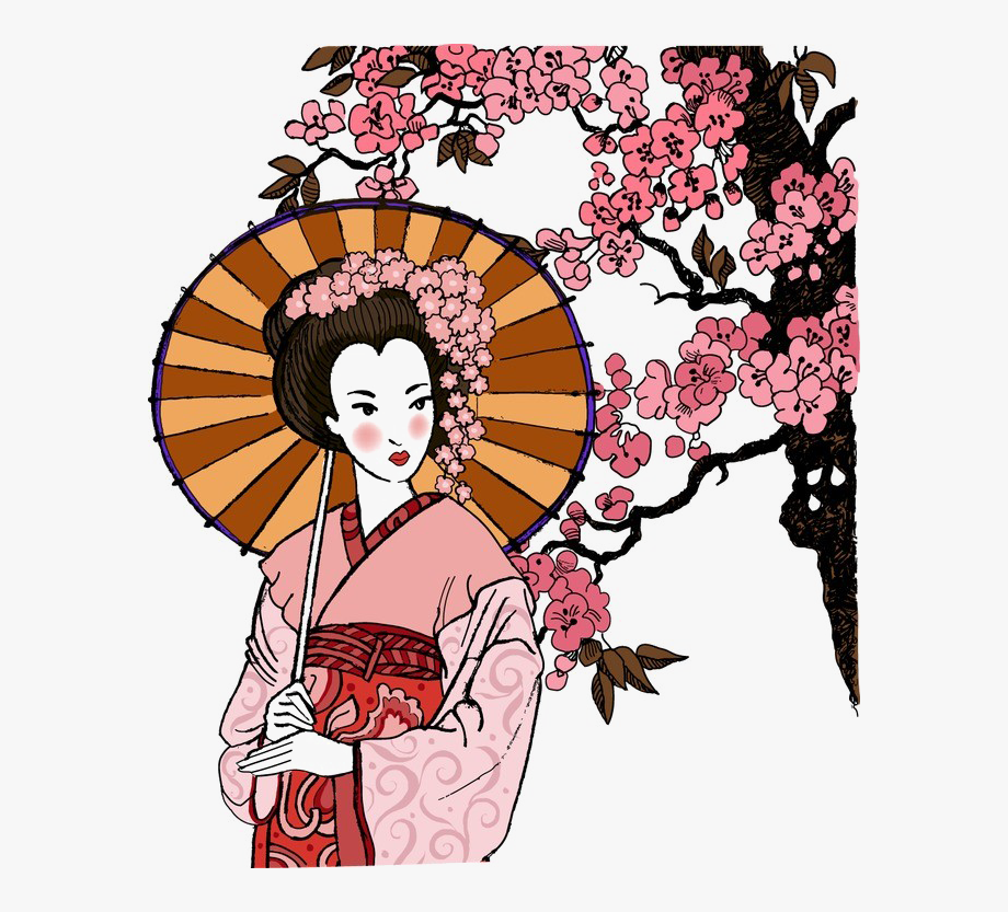 Japan clipart geisha japan. Japanese elements image free