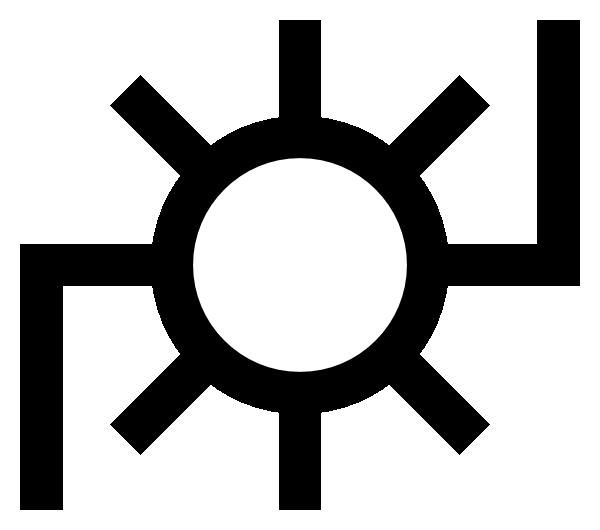 Map symbol power plant. Japanese clipart logo