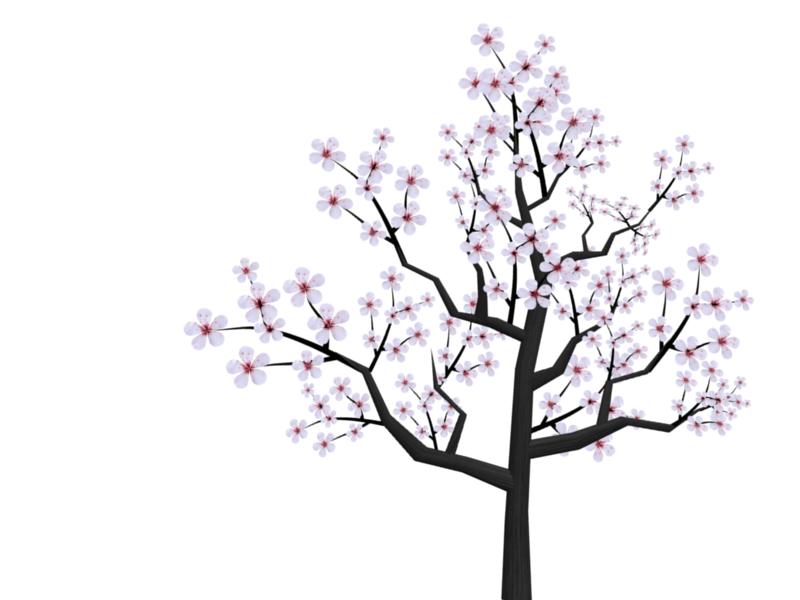 Tree cute flower. Japanese clipart japan cherry blossom