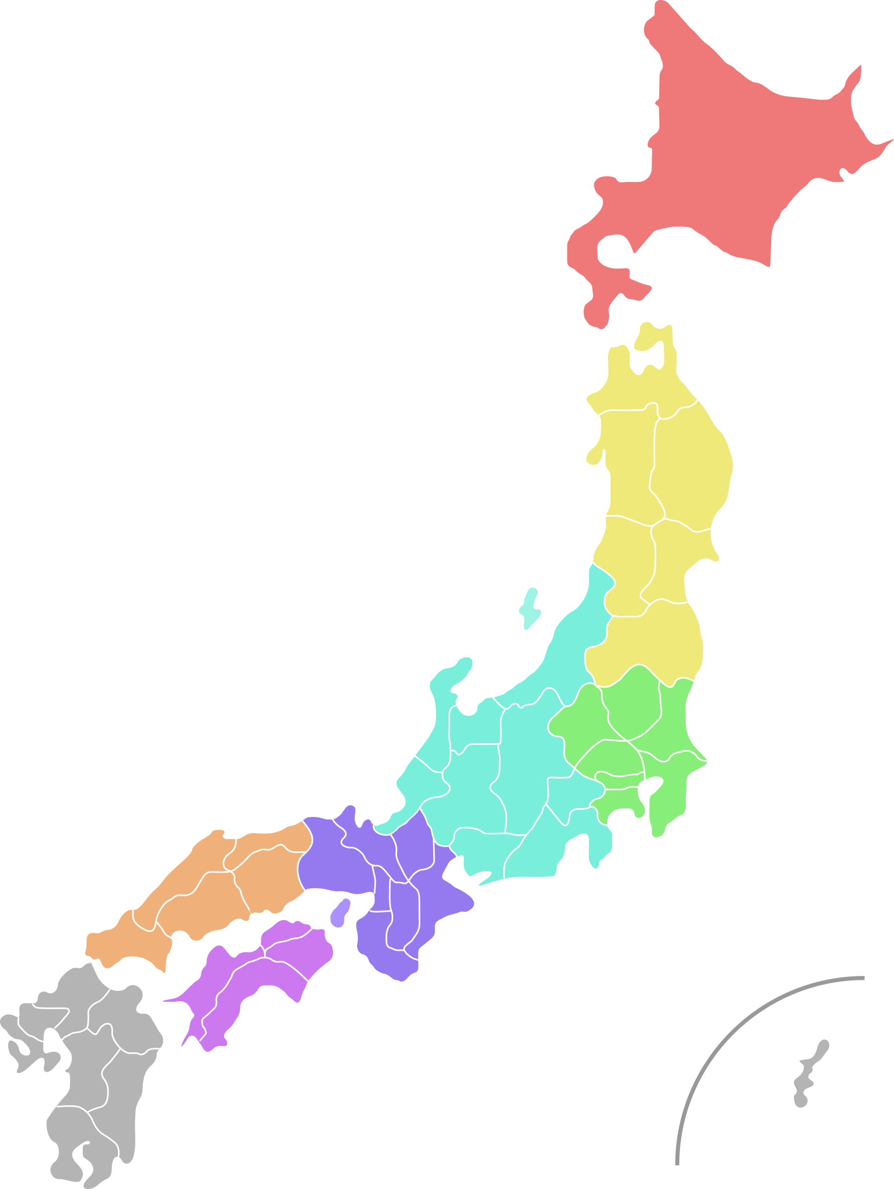Of colour big image. Japan clipart map japan
