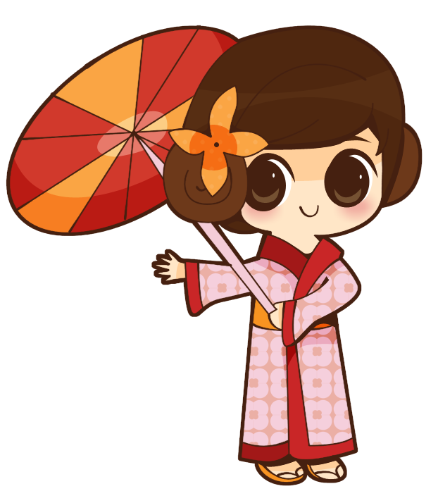 Anime joy orangekimono. Japanese clipart mountain japanese