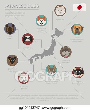 Japan clipart origin. Vector art dogs by