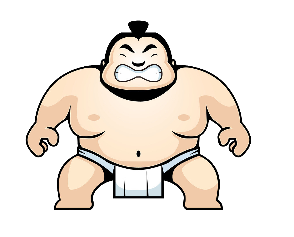 Sumo wrestling clip art. Wrestlers clipart hand to hand