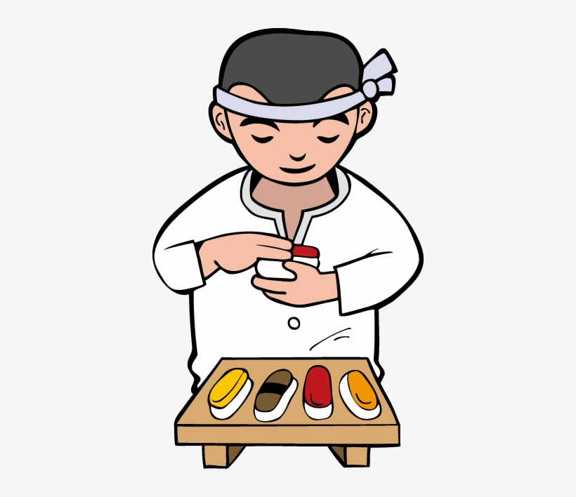 Japanese clipart sushi chef. Download free png