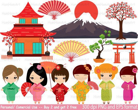 Pin on kokeshi dolls. Japan clipart svg