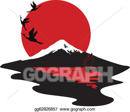 Vector art miniature symbolizing. Japanese clipart