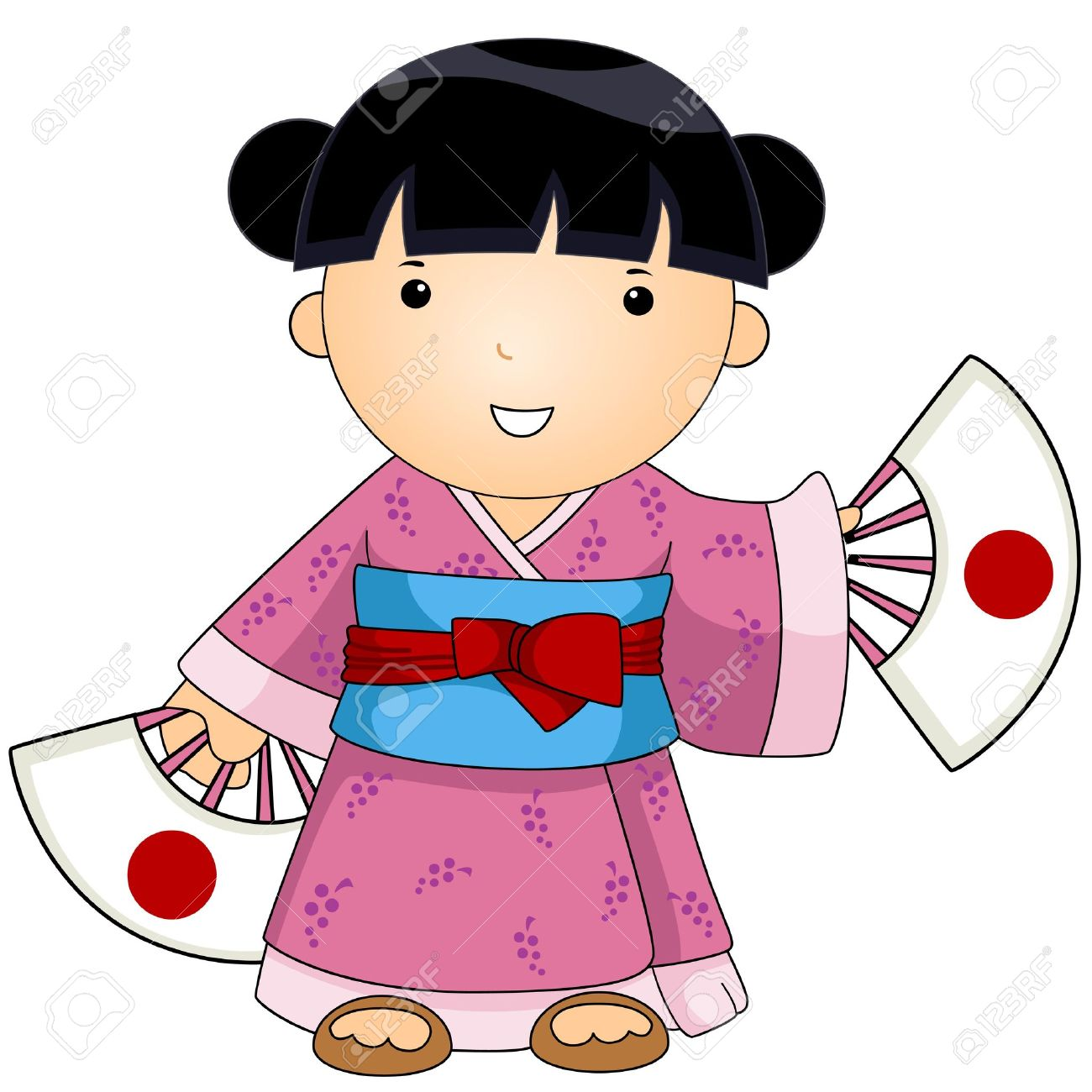 Japanese clipart. Japan dress pencil and