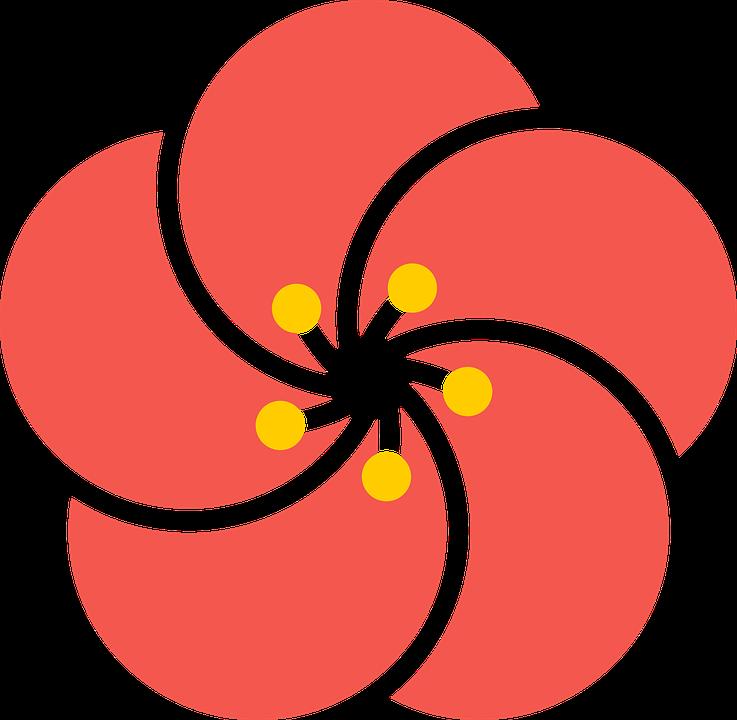 Japan flower free clip. Japanese clipart banner