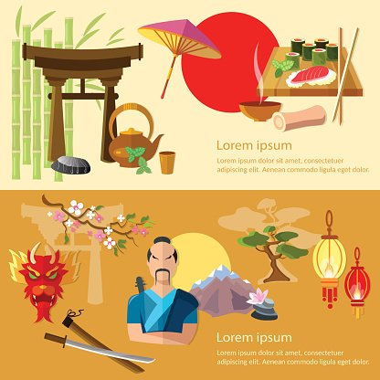 Japan and culture premium. Japanese clipart banner