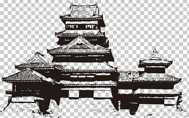 Matsumoto no architecture . Japanese clipart castle japan